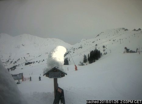 Champagny webcam at lunchtime today
