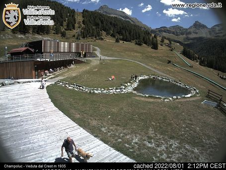 Champoluc webcam at lunchtime today