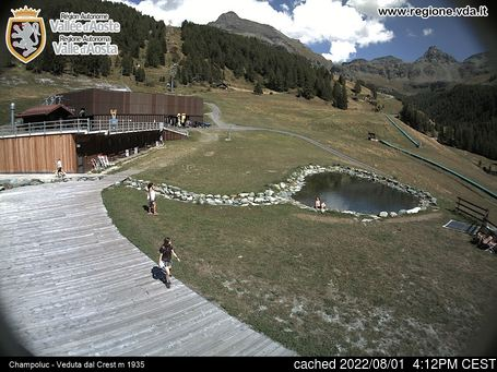 Live Snow webcam for Champoluc