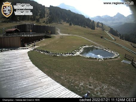 Champoluc için canlı kar webcam