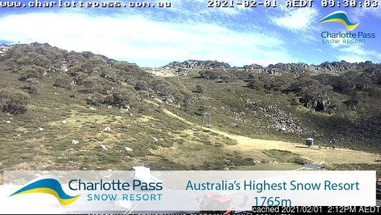 Charlotte Pass webcam at 2pm yesterday