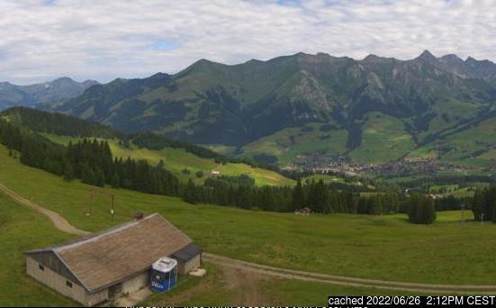 Webcam de Château d'Oex à midi aujourd'hui