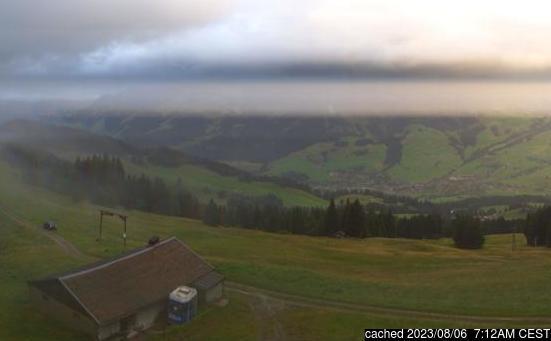 Château d'Oexの雪を表すウェブカメラのライブ映像