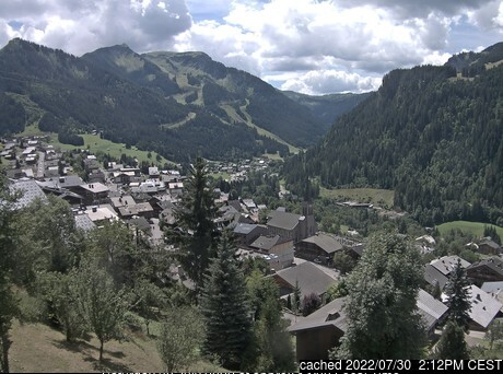 Chatel webcam at 2pm yesterday