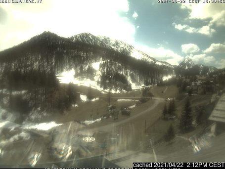 Claviere (Via Lattea) webcam op lunchtijd vandaag