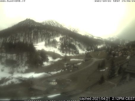 Claviere (Via Lattea) webcam at 2pm yesterday