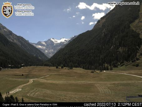 Cogne webcam at 2pm yesterday