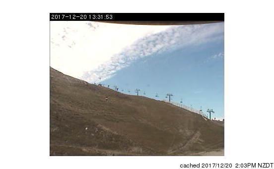 Coronet Peak Webcam gestern um 14.00Uhr