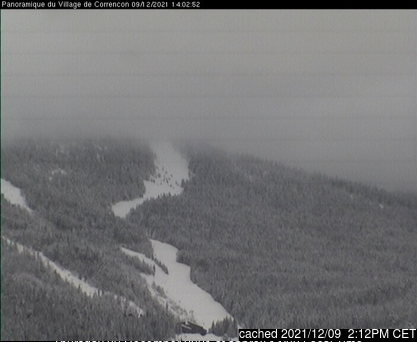 Correncon en Vercors webcam at lunchtime today