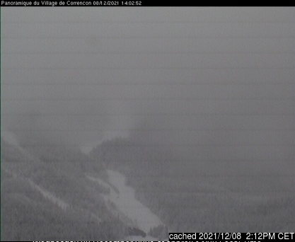 Correncon en Vercors webcam at 2pm yesterday