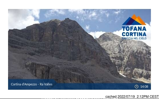 Cortina webcam at 2pm yesterday