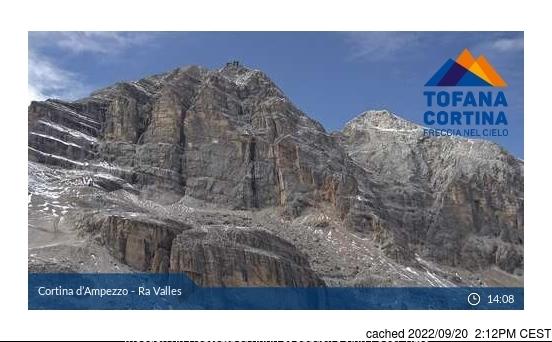 Cortina Webcam gestern um 14.00Uhr