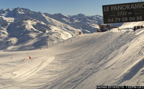 Courchevel webcam at lunchtime today