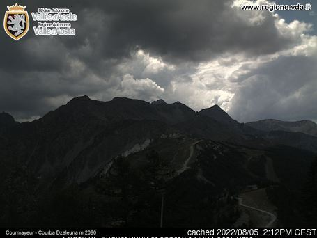 Courmayeur webcam at 2pm yesterday