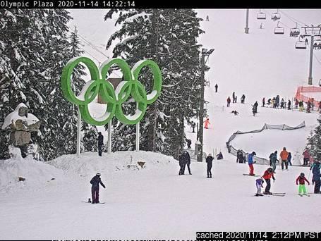 Cypress Mountain webcam às 14h de ontem