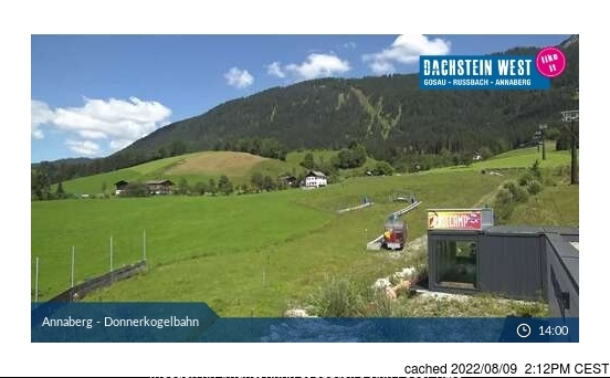 Dachstein Glacier webcam at lunchtime today