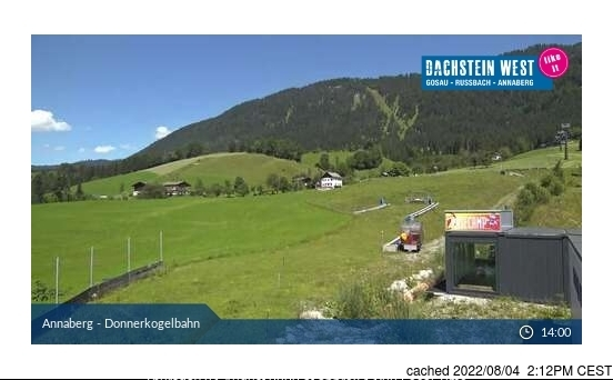 Dachstein Glacier webcam at 2pm yesterday