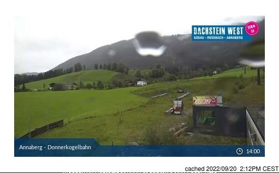 Dachstein Glacier webbkamera vid kl 14.00 igår