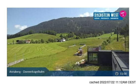 Dachstein Glacierの雪を表すウェブカメラのライブ映像