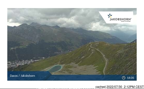 Davos webcam at lunchtime today