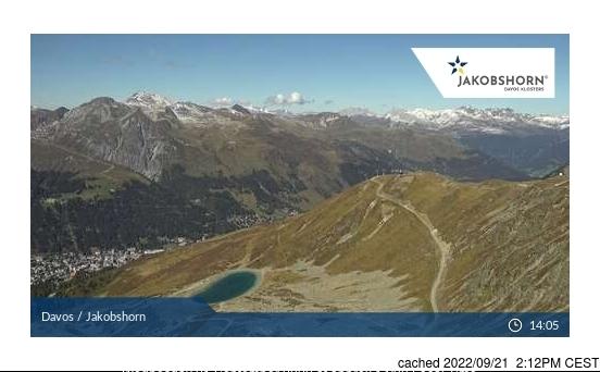 Bugün akşam yemeğinde Davos'deki webcam