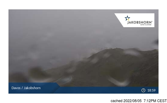 Live Snow webcam for Davos