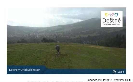 Deštné v Orlických horách webcam at lunchtime today