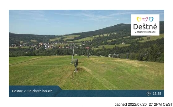 Webcam de Deštné v Orlických horách à 14h hier