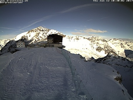 Diavolezza-Lagalb webcam at 2pm yesterday