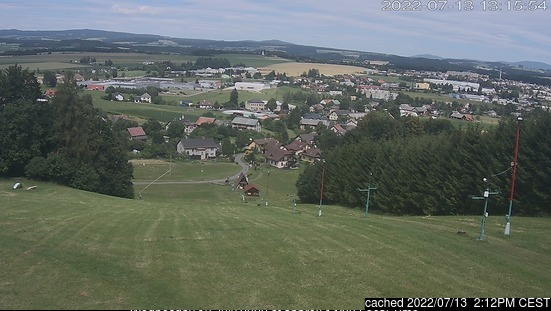 Dlouhoňovice webcam at lunchtime today