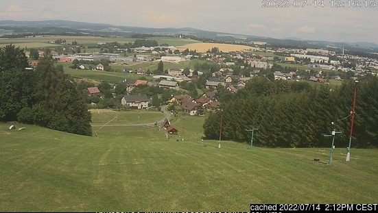Dlouhoňovice webcam at 2pm yesterday