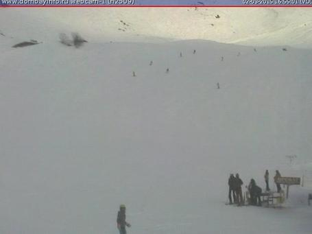 Dombai webcam at 2pm yesterday