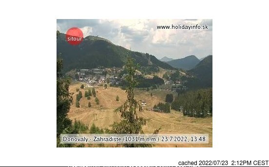 Donovaly webcam at 2pm yesterday