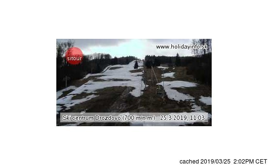 Drozdovo webcam at lunchtime today