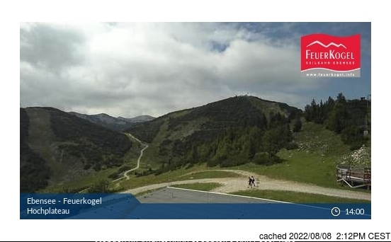 Ebensee am Traunsee webcam at 2pm yesterday