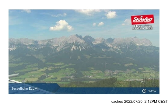 Ellmau webcam op lunchtijd vandaag