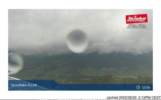 Ellmau webbkamera vid kl 14.00 igår