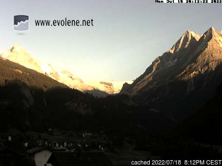 Live Snow webcam for Evolène