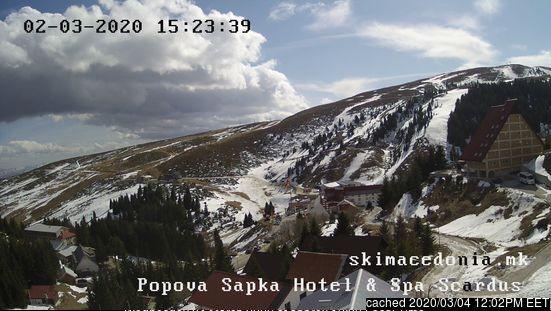 Mzaar Ski Resort webcam op lunchtijd vandaag