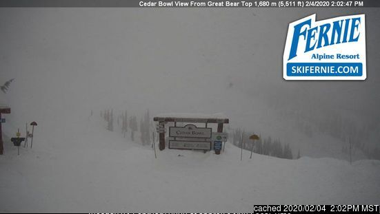 Fernie webcam at lunchtime today