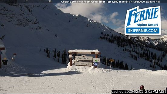Webcam de Fernie à 14h hier