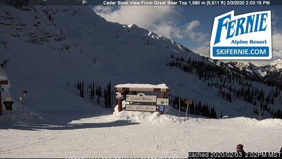 Webcam de Fernie a las 2 de la tarde hoy