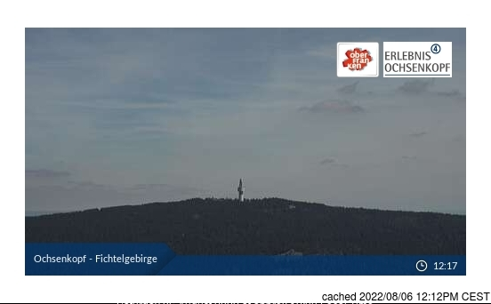 Fichtelberg webcam at lunchtime today