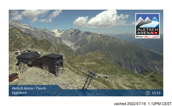 Live Snow webcam for Fiesch - Eggishorn - Aletsch