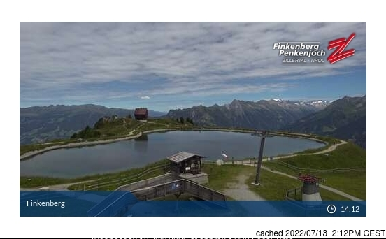 dün saat 14:00'te Finkenberg'deki webcam