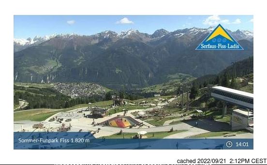 Fiss webcam heute beim Mittagessen