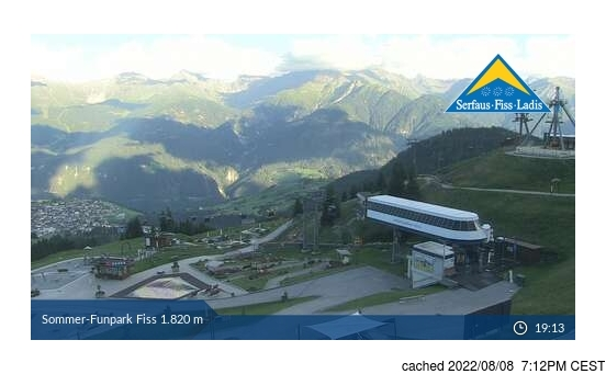 Live Snow webcam for Fiss