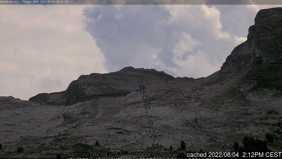 Flaine webcam alle 2 di ieri sera