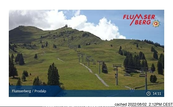 Flumserberg webcam at lunchtime today