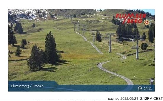 Flumserberg webcam all'ora di pranzo di oggi